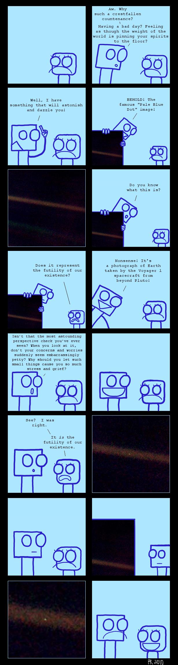 Pale Blue Comic